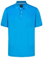 Poloshirt - Casual Fit - Piqué - hellblau