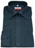 Hemd - Modern Fit - Print - grün / dunkelblau