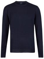Pullover - Merinowolle - Rundhals - dunkelblau