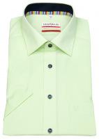 Kurzarmhemd - Modern Fit - Kontrastknöpfe - kariert - grün