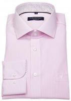 Hemd - Comfort Fit - Streifen - rosé / weiß