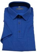 Poloshirt - Modern Fit - Piquée - blau