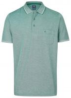 Poloshirt - Casual Fit - Piqué - grün / weiß