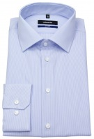 Hemd - Tailored Fit - feine Streifen - hellblau / weiß