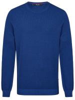 Pullover - Comfort Fit - Rundhals - Struktur - blau