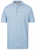 Poloshirt - Level Five Body Fit - Piqué - hellblau / weiß