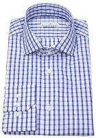 Hemd - Modern Fit - Haikragen - kariert - blau / weiß