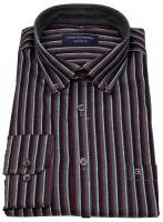 Hemd - Comfort Fit - Button Down Kragen - rot / grau