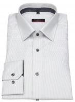 Hemd - Modern Fit - Twill Streifen - Kontrastknöpfe - grau