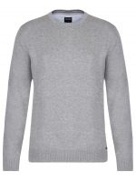 Pullover - Rundhals-Ausschnitt - grau