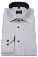 Hemd - Modern Fit - feine Streifen - schwarz / weiß