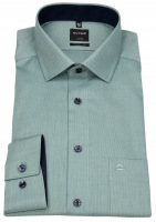 Hemd - Luxor Modern Fit - Faux Uni - grün / weiß
