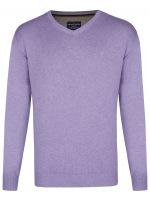 Pullover - V-Ausschnitt - flieder