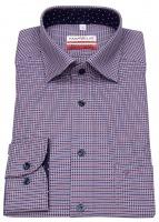 Hemd - Modern Fit - Under Button Down - rot / blau