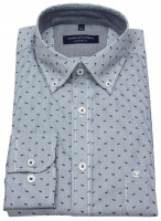 Hemd - Comfort Fit - Button Down - gestreift - blau