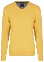 Pullover - V-Ausschnitt - gelb