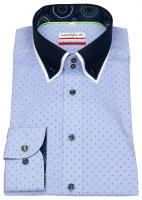 Hemd - Modern Fit - Button Down Kontrastkragen - hellblau