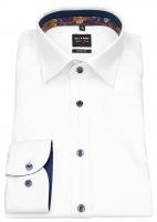 Hemd - Level Five - Under Button Down - Kontrastknöpfe - weiß