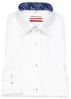 Hemd - Modern Fit - Feintwill - Kontrastgarn - weiß