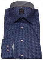 Hemd - Level 5 Body Fit - Under Button Down - dunkelblau/lila