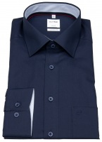 Hemd - Comfort Fit - New Kent - Patch - dunkelblau