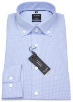 Hemd - Luxor Modern Fit - Button Down - hellblau / weiß
