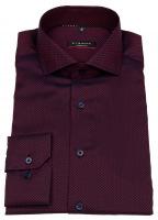 Hemd - Modern Fit - Chambray - rot / dunkelblau