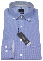 Hemd - Luxor Modern Fit - Button Down - blau / weiß