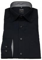 Hemd - Modern Fit - Under Button Down - Patch - schwarz