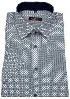 Kurzarmhemd - Modern Fit - Print - blau