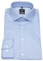 Hemd - No. Six Super Slim Fit - Print - hellblau / blau