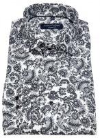 Hemd - Comfort Fit - Print - schwarz / weiß