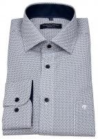 Hemd - Comfort Fit - Print - dunkelblau / weiß