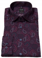 Hemd - Luxor Modern Fit - Under Button Down - Print - rot