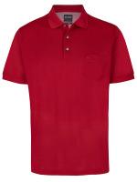 Poloshirt - Casual Fit - Piqué - dunkelrot