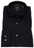 Hemd - Extra Slim Fit - Haifischkragen - schwarz