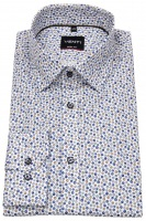 Hemd - Body Fit Stretch - Under Button Down - blau / braun