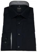 Hemd - Luxor Modern Fit - Patch - schwarz