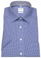 Kurzarmhemd - Luxor Comfort Fit - Check - blau / weiß