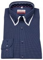 Hemd - Modern Fit - unterlegter Button Down Kragen - dunkelblau