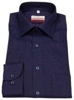 Hemd - Modern Fit - Print - dunkelblau / rot / weiß