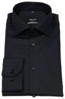 Hemd - Modern Fit - Twill - schwarz