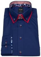 Hemd - Modern Fit - unterleger Button Down - dunkelblau