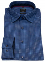Hemd - Luxor Modern Fit - Under Button Down - Print - blau