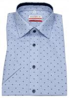 Kurzarmhemd - Modern Fit - Kontrastknöpfe - hellblau