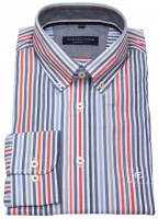 Hemd - Comfort Fit - Button Down Kragen - mehrfarbig gestreift