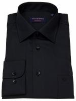 Hemd - Comfort Fit - schwarz - extra langer Arm 72cm
