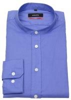 Hemd - Slim Fit - Stehkragen - blau