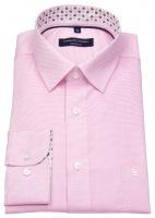 Hemd - Modern Fit - feiner Print - rosé