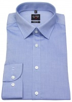 Hemd - Level Five Body Fit - Chambray - blau - 69cm Arm